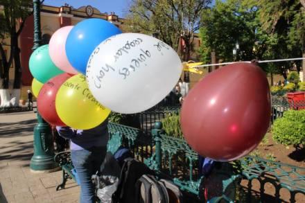 globos y mensajes