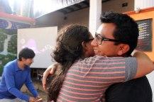 el abrazo de Jose y Montse