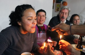 soplando velas