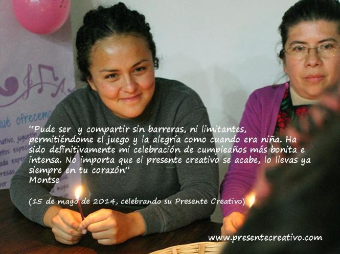 Testimonio de Montse en su Presente Creativo