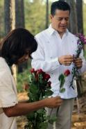 preparando las flores